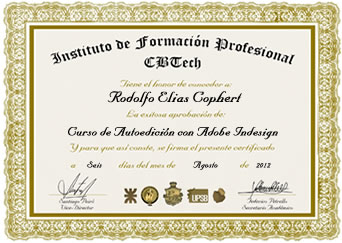 Certificado - Autoedición con Adobe InDesign